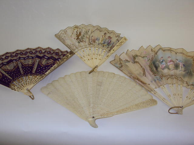 A small collection of decorative fans