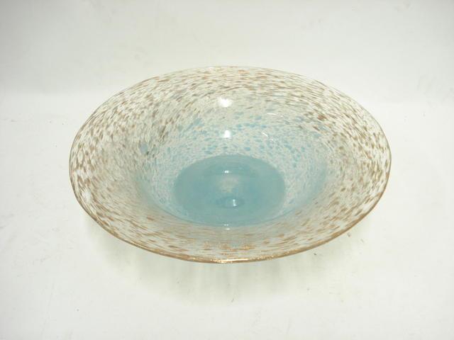 A Monart glass bowl Shape FH