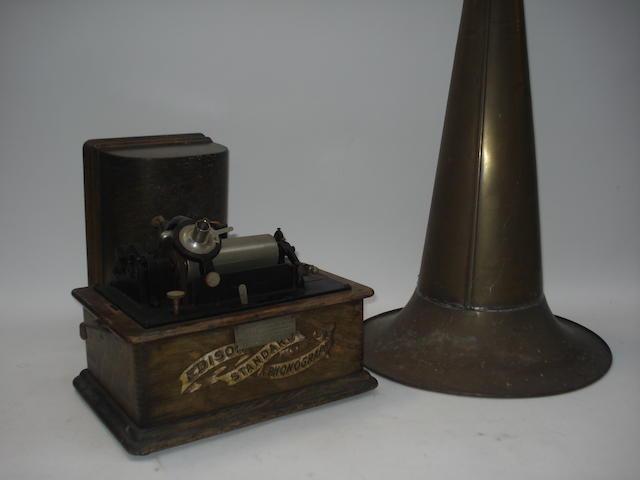 An Edison Standard phonograph, Model A,