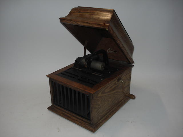 An Edison Amberola 30 phonograph, oak table model, 1925,