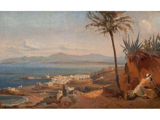 Professor Niels Simonsen (Danish, Copenhagen 1807-1885 Frederiksberg) View of Algier from the hills above