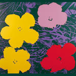After Andy Warhol (American, 1928-1987) Flowers The complete set of 10 screenprints printed in colours, on stiff wove, each with the Sunday B. Morning stamp verso, the full sheets, each 915 x 915mm (36 x 36in)(SH)