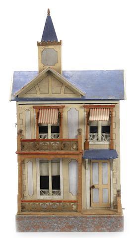 Moritz Gottschalk blue roof villa with lift