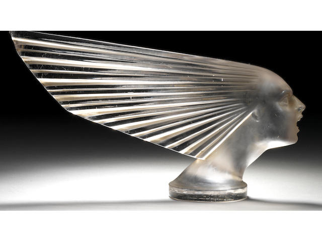 A 'Victoire' glass mascot by René Lalique, French,