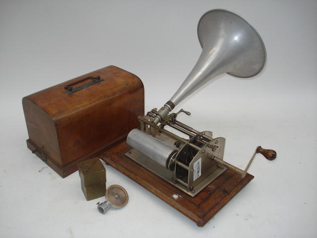 A Thorens Royal (Little Marvel) phonograph,