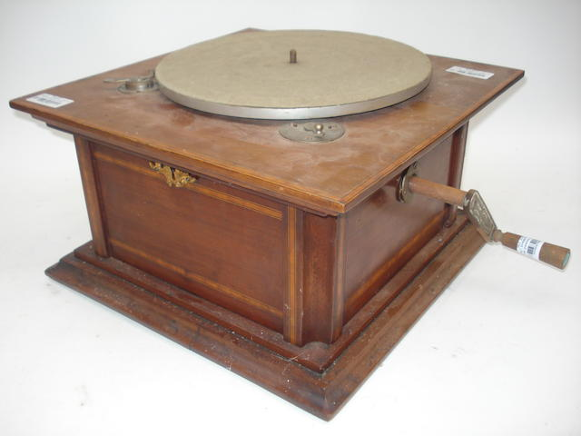 A German gramophone, probably by Lindström, circa 1908,