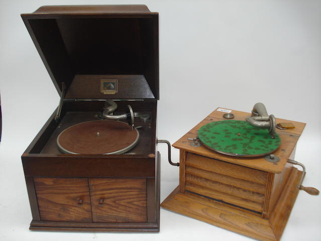 An internal horn gramophone, by the Selby Manufacturing Co. Ltd., London, circa 1920,