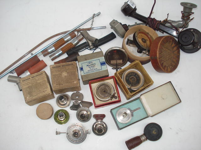 Phonograph reproducers, recorders, gramophone soundboxes and horn tubing:
