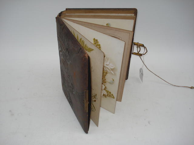A musical phonograph album, circa 1890,