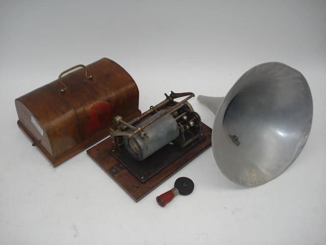 A Pathé Freres Pathetica phonograph,