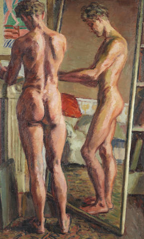 Duncan Grant (British, 1885-1978) Paul Roche, Nude 91.5 x 55 cm. (36 x 21 6/8 in.)