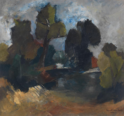 Paul du Toit (South African, 1922-1986) Landscape with trees