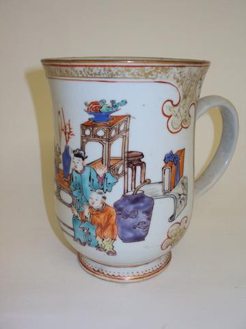 A Chinese export porcelain tankard
