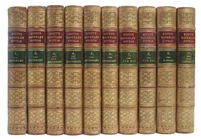 SCOTT (WALTER) The Waverley Novels, 48 vol.