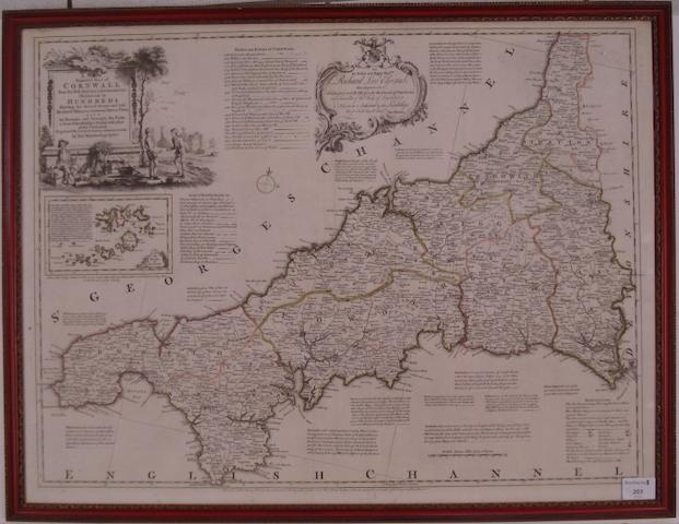 CORNWALL KITCHIN (THOMAS) A New Improved Map of Cornwall, [1760]