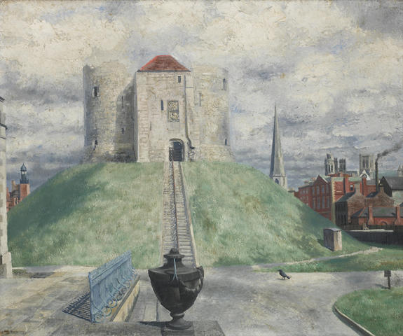 Richard Eurich A.R.A. (British, 1903-1992) Clifford's Tower, York 51 x 61 cm. (20 x 24 in.)