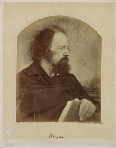 Julia Margaret Cameron (British, 1815-1879) The Dirty Monk (Alfred Lord Tennyson), 1865 Print from top of arch 25.9 x 20.5cm (10 3/6 x 8 1/6in), card 36.3 x 28.3cm (14 5/16 x 11 1/8in).