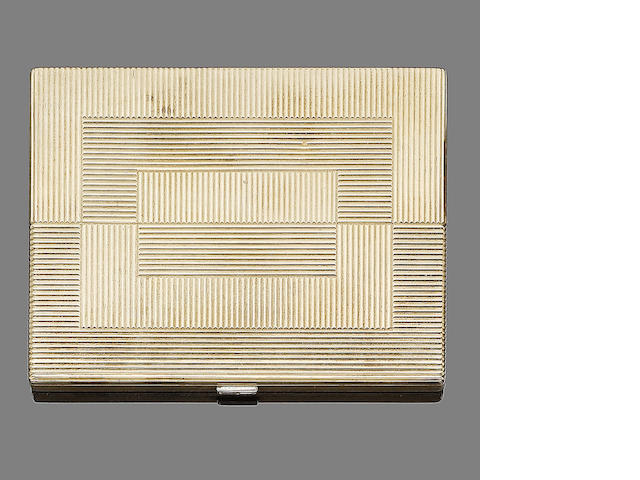 A gold and diamond cigarette case, by Cartier,