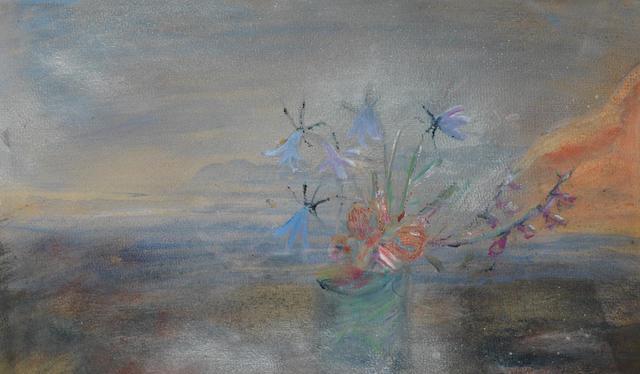 Winifred Nicholson (British, 1893-1981) Dusk 30.5 x 47 cm. (12 x 18 1/2 in.)