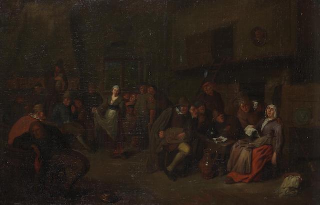 Attributed to Egbert van Heemskerck the Elder (Haarlem 1634-1704 London) Peasants merrymaking