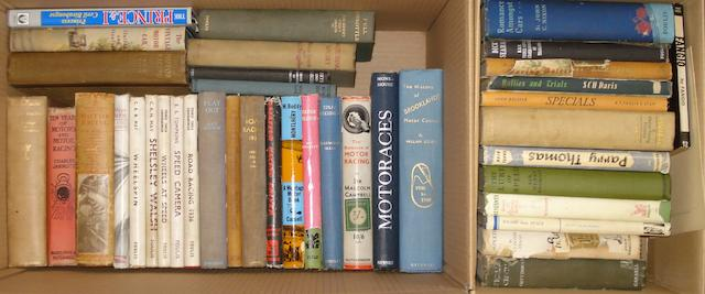 A quantity of books relating to pre-War motor racing