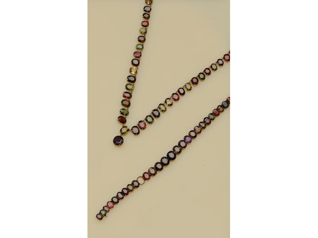A vari gem-set riviere necklace (3)