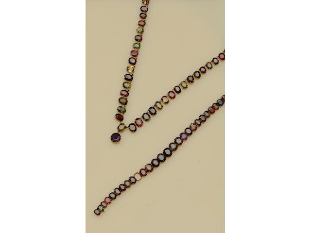 A vari gem-set riviere necklace (3)