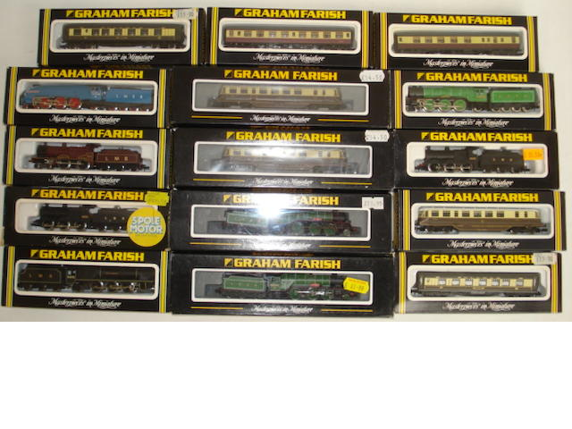 N gauge Graham Farish locomotives and coaches 22