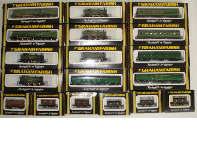 N gauge Graham Farish Southern locomotives coaches and rolling stock approx 55