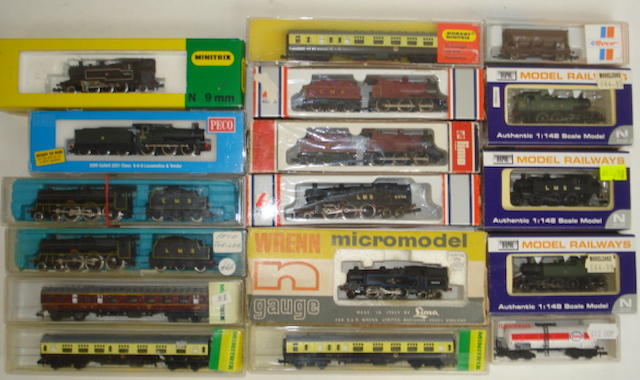 N gauge locomotives and rolling stock approx 60
