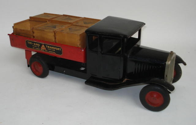 Tri-ang large scale steel Transport Four tipper truck lot