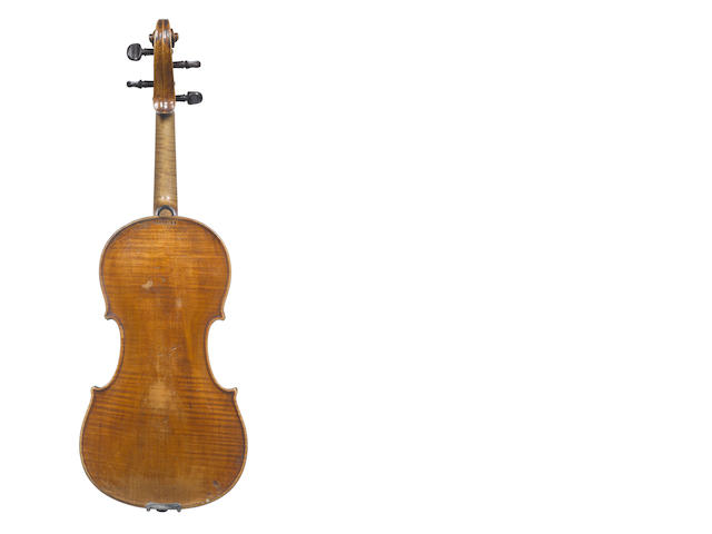 A Gavinies violin, in a hard case by Hill and two bows