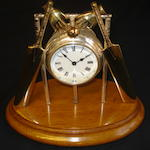 A cricket trophy clock