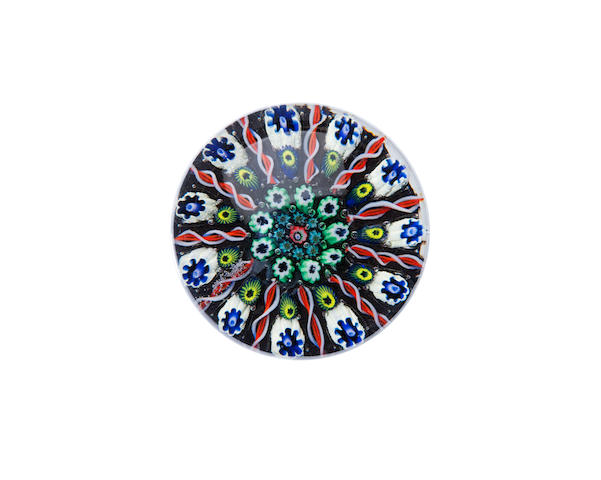 An early Ysart concentric millefiori paperweight 20th century
