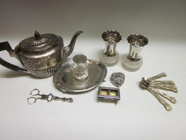 An oval teapot