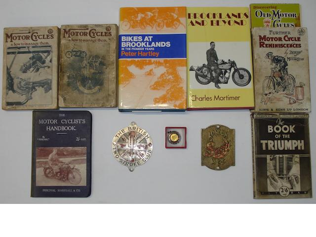 Two books relating to Brooklands motorcycle racing,