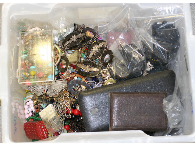 A collection of costume jewellery, (Quantity)