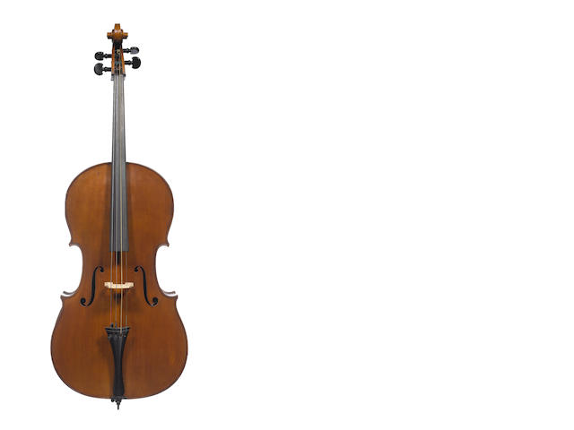 A Mirecourt Cello of the Colin School circa 1900 (2)