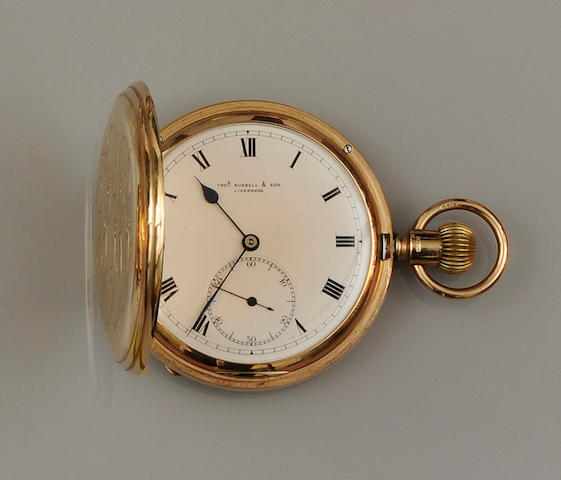 An Edwardian 9ct gold hunter pocket watch
