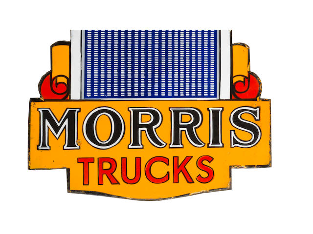 A Morris Trucks double-sided enamel sign, 1930s,