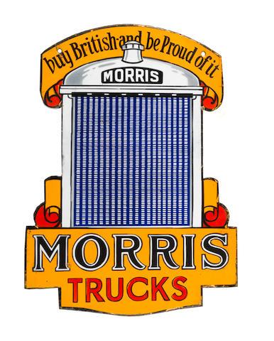 A Morris Trucks double-sided enamel sign, 1930s,