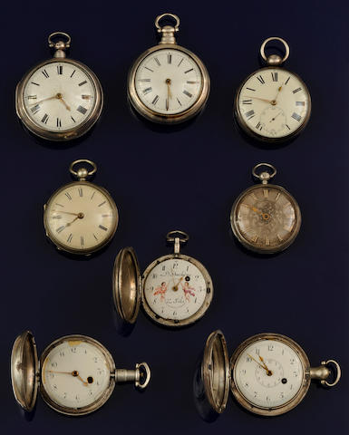 A collection of pocket watches(8)