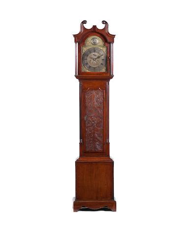 A George III mahogany longcase clock, first quarter 19th century The dial roundel engraved John Ray Brigg