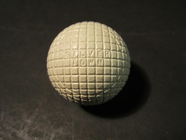 An un-named gutty golf ball circa 1880s