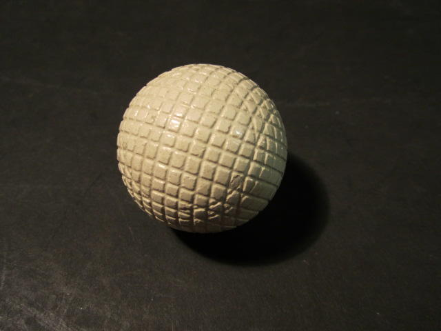 A Silvertown gutty golf ball circa 1880s