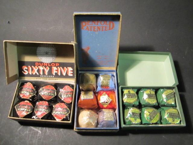 A Golf Ball Development hinged Penfold Patented 6 box