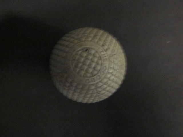 A James B. Halley The Ocobo 27½ gutta-percha golf ball