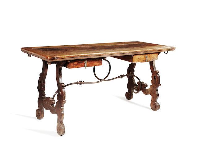 An 18th Century Spanish chestnut side table
