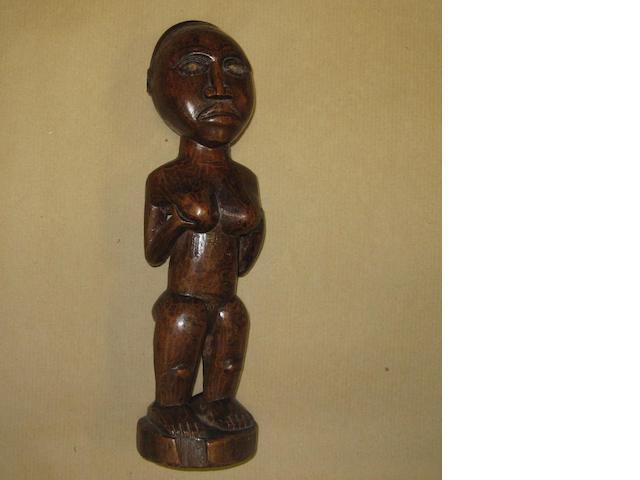 A Kongo female figure, D.R. Congo, 30cm high