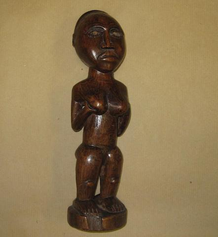 A Kongo female figure, D.R. Congo, 30cm high